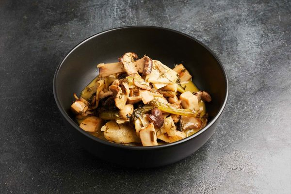 Variety of Wild Mushrooms Fricassee