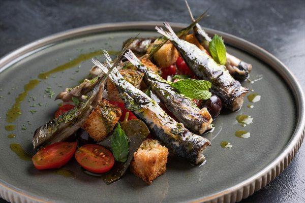 Grilled Sardines Papadakis Restaurant