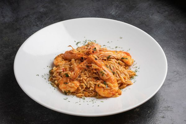 Orzo with Prawns