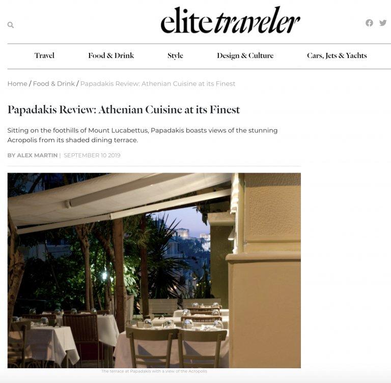 papadakis restaurant review elite traveler