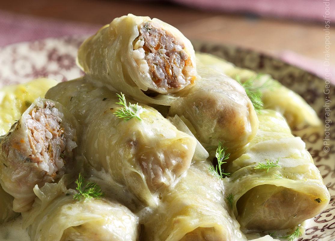 Λαχανοντολμάδες Cabbage rolls
